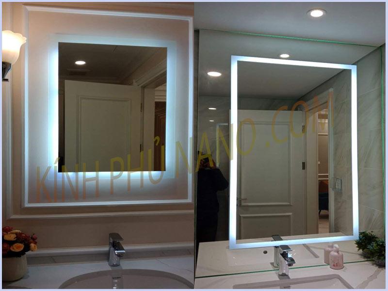 Gương đèn led tràn viền nhà tắm