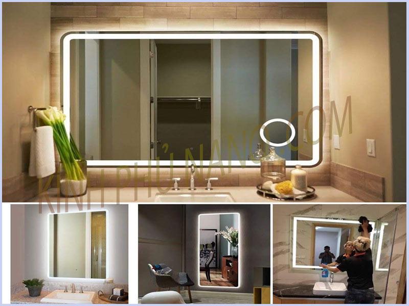Gương đèn led cảm ứng nhà vệ sinh