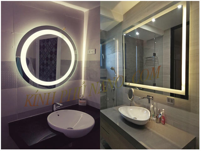 Gương trang trí đèn led phòng tắm