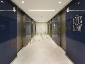 Kính sơn màu ốp trang trí cho thang máy
