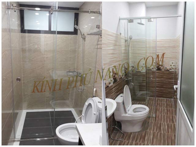 Phòng tắm kính cường lực trượt ngang