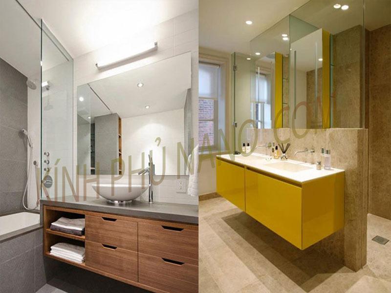 Mẫu nhà vệ sinh đẹp vơi gương Bỉ nhập khẩu