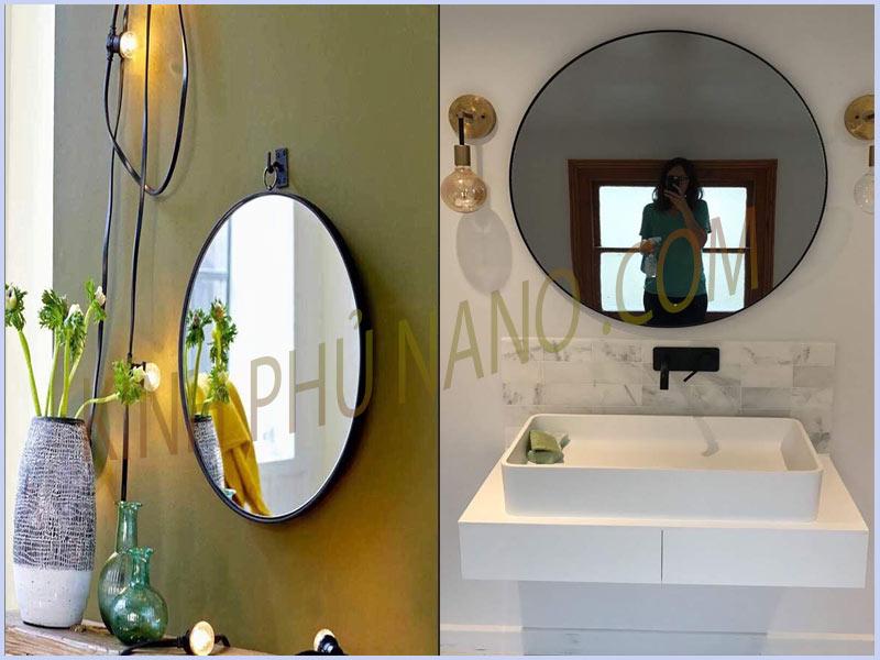 Gương tròn treo nhà tắm