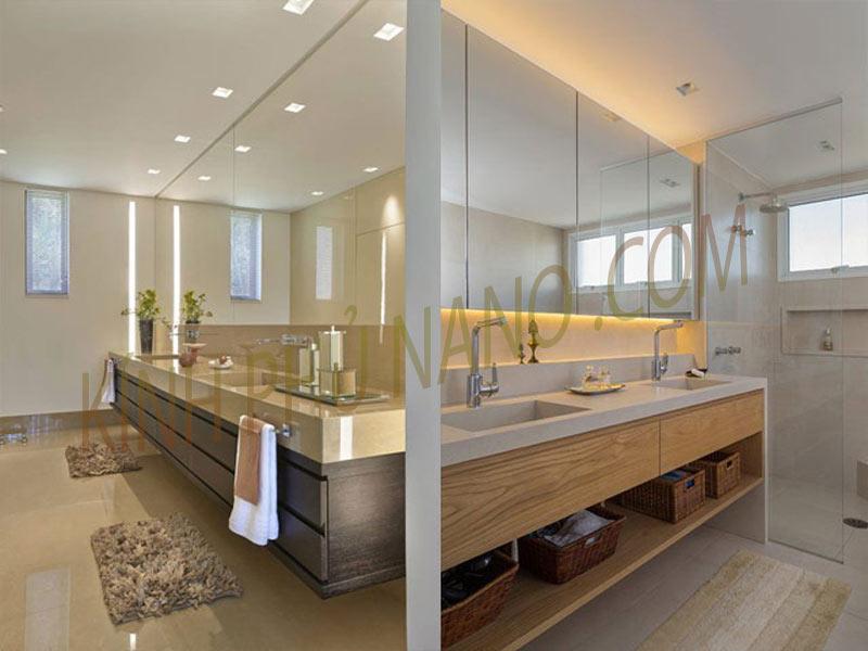 Mẫu gương phòng tắm sạch đẹp