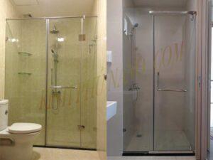 Phòng tắm kính thẳng 2 tấm