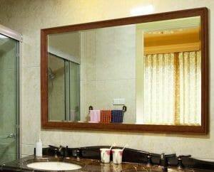Mẫu gương phòng tắm mài vát cạnh