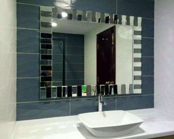 Gương phòng tắm ghép trang trí